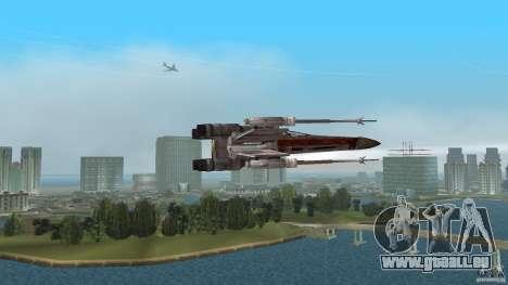 X-Wing Skimmer für GTA Vice City zurück linke Ansicht