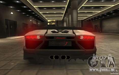 Lamborghini Aventador J pour GTA 4 Vue arrière
