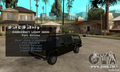 ELM v9 for GTA SA (Emergency Light Mod) für GTA San Andreas
