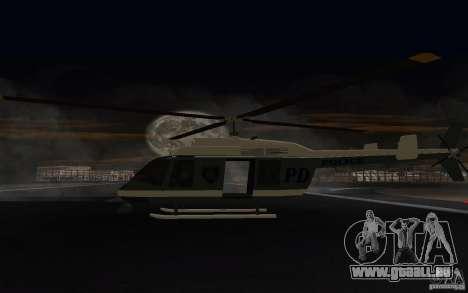 GTA IV Police Maverick pour GTA San Andreas vue de droite