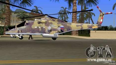 Mi-24 HindB pour une vue GTA Vice City de l'intérieur
