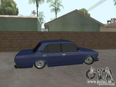 VAZ 2107 v2 pour GTA San Andreas laissé vue
