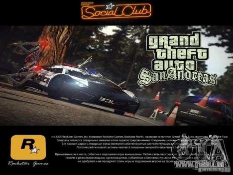 Nouveaux écrans de chargement 2011 pour GTA San Andreas troisième écran