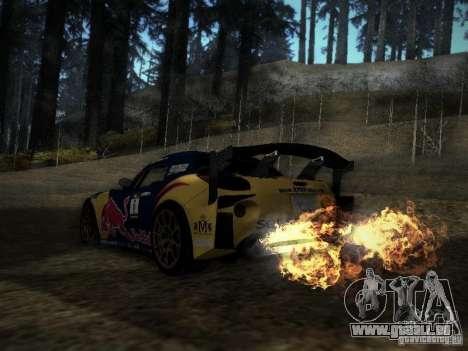 Pontiac Solstice Redbull Drift v2 pour GTA San Andreas sur la vue arrière gauche