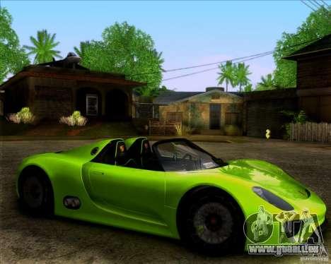 Porsche 918 Spyder Concept Study pour GTA San Andreas sur la vue arrière gauche