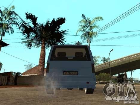GAZ-2217-Bargusin Zobel für GTA San Andreas zurück linke Ansicht