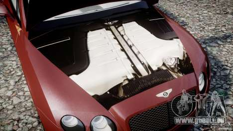 Bentley Continental SS v2.1 pour GTA 4 est une vue de l'intérieur