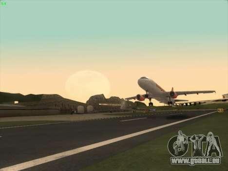 Airbus A320-214 EasyJet pour GTA San Andreas vue de droite