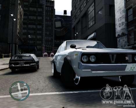 Nissan Skyline KPGC110 2000GT-X pour GTA 4 Vue arrière