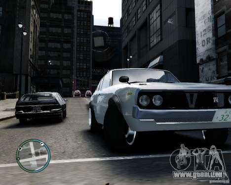 Nissan Skyline KPGC110 2000GT-X für GTA 4 Rückansicht