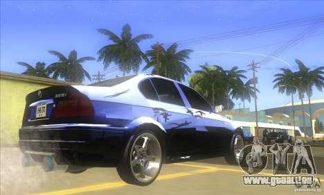 BMW 325i E46 v2.0 pour GTA San Andreas sur la vue arrière gauche