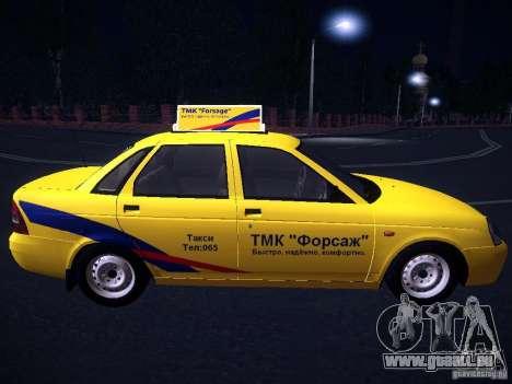 LADA Priora 2170 Taxi TMK Afterburner pour GTA San Andreas vue intérieure