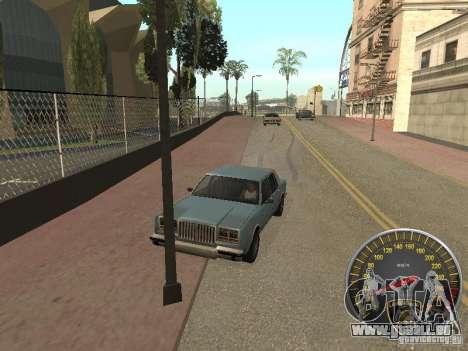 Compteur de vitesse Lamborghini pour GTA San Andreas troisième écran