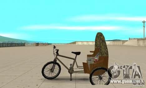 Manual Rickshaw v2 Skin2 pour GTA San Andreas laissé vue