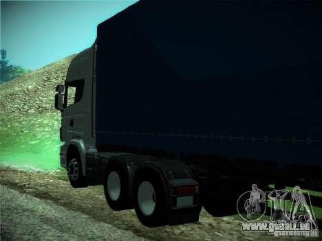 Scania R440 pour GTA San Andreas vue intérieure
