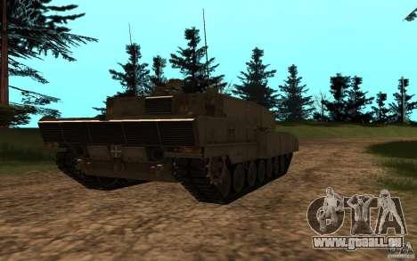 Leopard 2a7 für GTA San Andreas zurück linke Ansicht