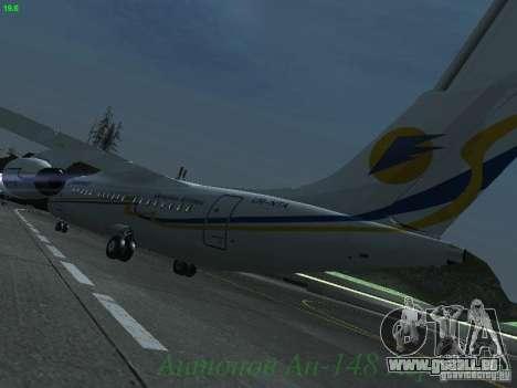 Antonow an-148 Aerosvit Ukrainian Airlines für GTA San Andreas zurück linke Ansicht