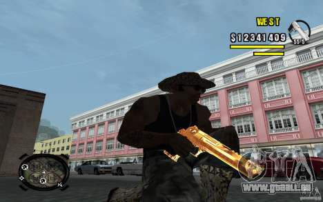 Gold Weapon Pack v 2.1 für GTA San Andreas