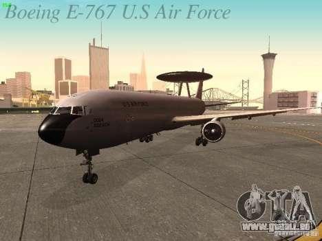 Boeing E-767 U.S Air Force pour GTA San Andreas laissé vue