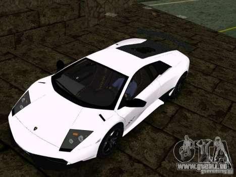 Lamborghini Murcielago LP670-4 sv für GTA San Andreas Rückansicht