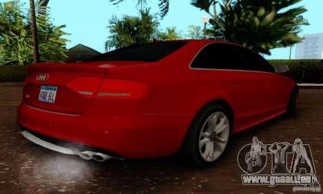 Audi S4 2010 für GTA San Andreas Rückansicht
