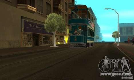 Double Decker Tram pour GTA San Andreas sur la vue arrière gauche
