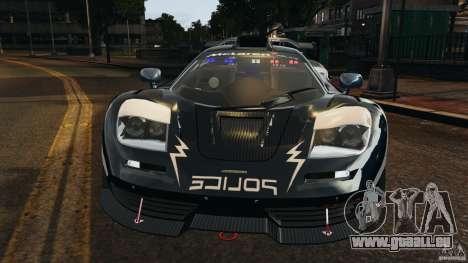McLaren F1 ELITE Police [ELS] pour GTA 4 est une vue de l'intérieur