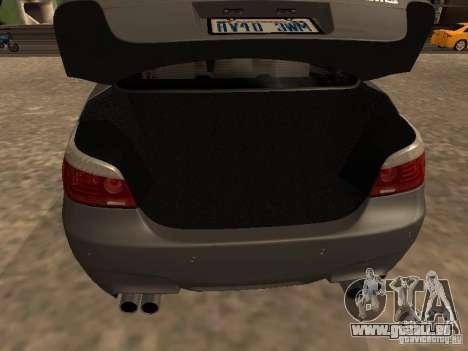BMW M5 E60 2009 v2 pour GTA San Andreas vue de dessous