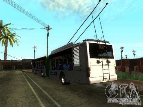 Trolleybus LAZ E301 für GTA San Andreas Rückansicht