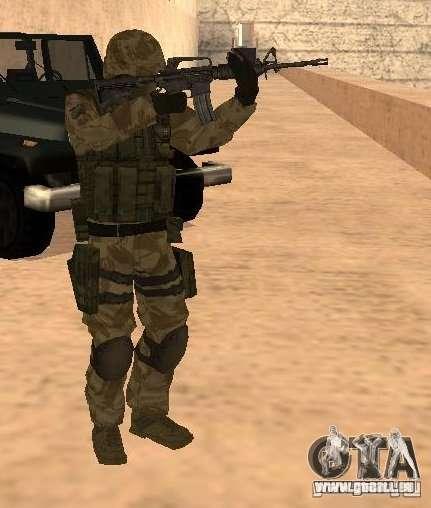 Ranger Army Skin Mod für GTA San Andreas zweiten Screenshot