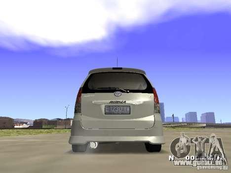 Toyota Avanza Street Edition pour GTA San Andreas laissé vue