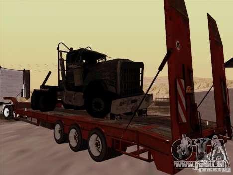 Volvo VNL 670-trailer für GTA San Andreas zurück linke Ansicht