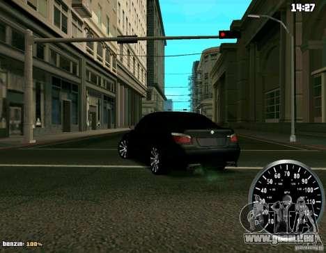 BMW M5 pour GTA San Andreas sur la vue arrière gauche