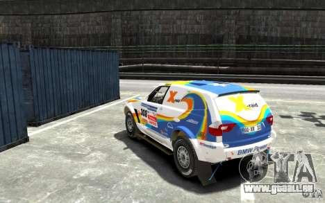 BMW X3 CC DAKAR pour GTA 4 Vue arrière de la gauche