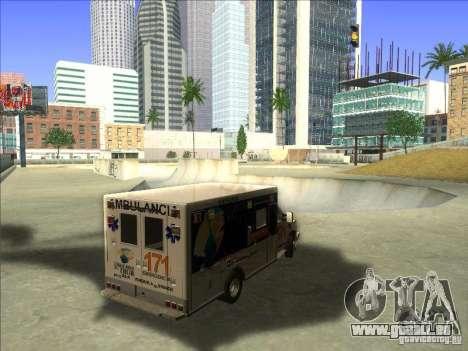 Ford E-350 Ambulance pour GTA San Andreas vue de droite