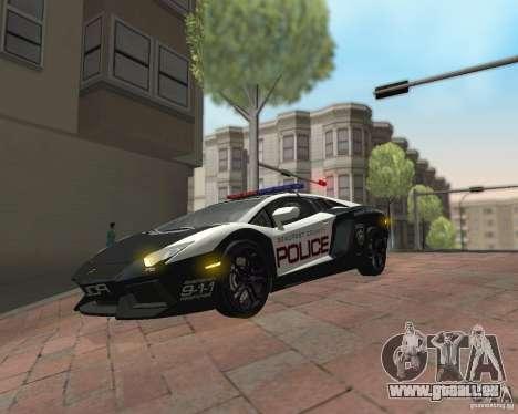 Lamborghini Aventador LP700-4 Police für GTA San Andreas Rückansicht