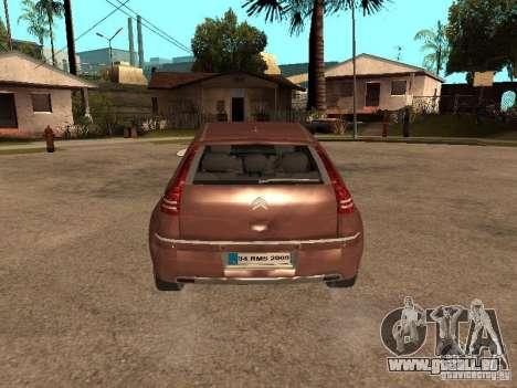 Citroen C4 pour GTA San Andreas vue arrière