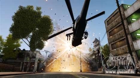 Un hélicoptère avec un RPG pour GTA 4 Vue arrière