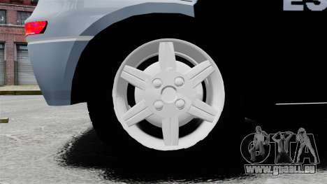 Chevrolet Corsa 2012 PMESP ELS für GTA 4 Rückansicht