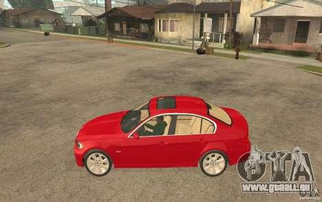 BMW 330i E90 v.2.0 für GTA San Andreas linke Ansicht