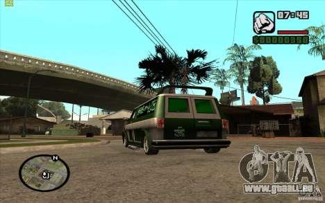 Grove Street Gang Burrito pour GTA San Andreas vue de droite