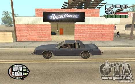 Un Paint Shop West Coast Customs pour GTA San Andreas deuxième écran