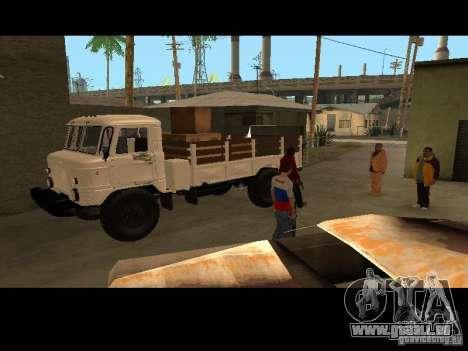 GAZ 66 Parade für GTA San Andreas Rückansicht