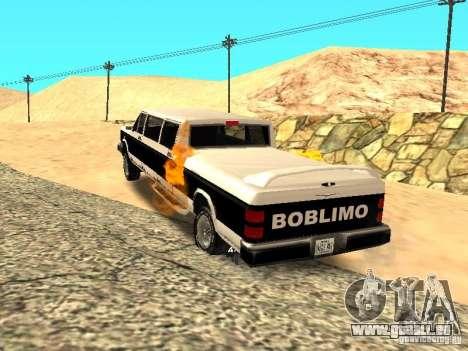 Limousine BOBCAT pour GTA San Andreas sur la vue arrière gauche