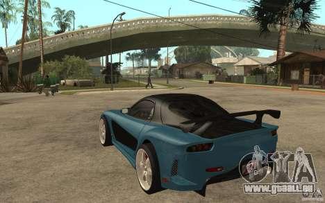 Mazda RX 7 VeilSide für GTA San Andreas Rückansicht