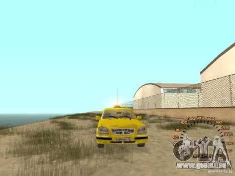 GAZ-31105 taxi pour GTA San Andreas vue de droite