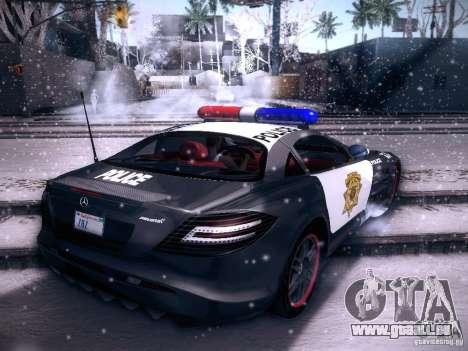 Mercedes-Benz SRL 722 Police für GTA San Andreas linke Ansicht