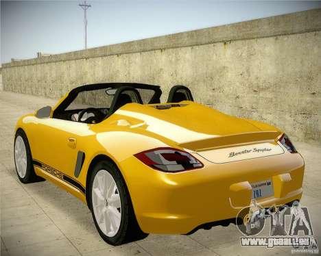 Porsche Boxter Spyder pour GTA San Andreas laissé vue