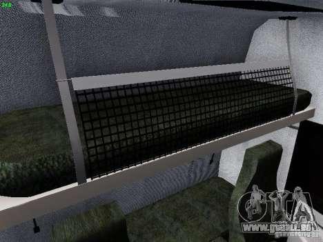 Scania R580 V8 Topline für GTA San Andreas Unteransicht