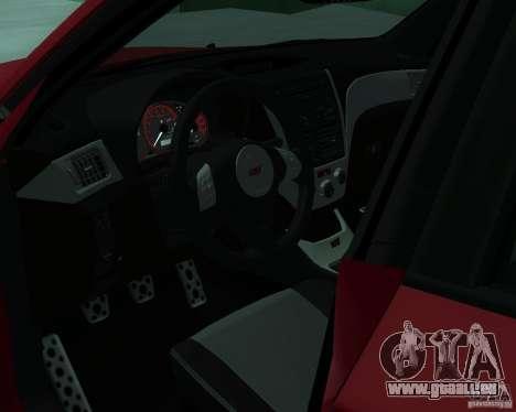 Subaru Impreza WRX STI Stock pour GTA San Andreas sur la vue arrière gauche